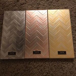 Three tarte palettes